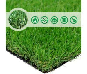 PET GROW PG1-4 Best Artificial Grass Rug 6.5 FT x10 FT(65 Square FT), Realistic Indoor Outdoor Garden Lawn Landscape Patio Synthetic Turf Mat- Thick Fake Faux Grass