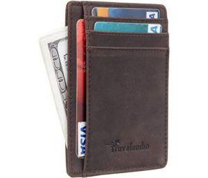 Travelambo Front Pocket Leather Slim Wallet
