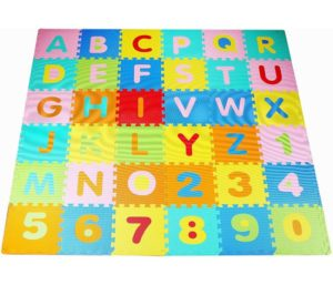 BalanceFrom Kid's Puzzle Exercise Best Baby Play Mat Interlocking Tiles