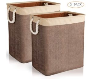 JOMARTO Best Laundry Basket with Handles 2 Pack, Collapsible Linen Laundry Hampers