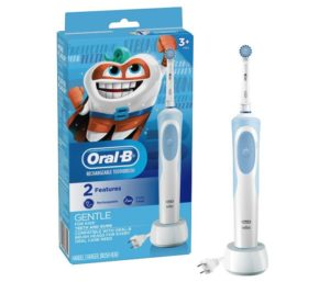 Oral-B Best Electric Toothbrush For Kids With Sensitive Brush Head and Timer, for Kids 3+