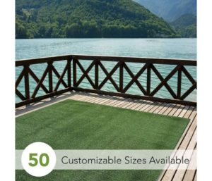 iCustomRug Indoor Outdoor Turf Rugs and Runners Best Artificial Grass Many Custom Sizes and Widths Finished Edges with Binding Tape Green 6 X 12