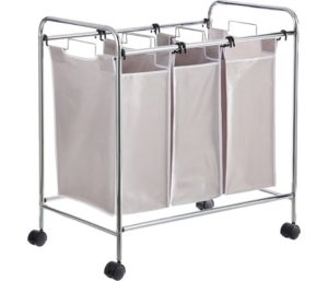 AmazonBasics 3-Bag Laundry Hamper Sorter Basket