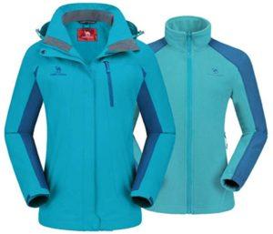 CAMEL CROWN Best Snowboard Jackets, Women's Ski Waterproof Windproof Warm Fleece Hooded