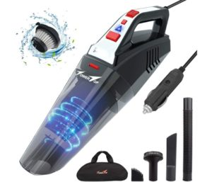 Car Vacuum, Towertop Portable Vacuum Cleaner for Car, 12V 5500PA High Power Handheld Vacuum Cleaner with 16.4FT(5M) Power Cord, Wet Dry Use