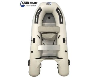 Inflatable Sport Boats Shark 9.8' - Model SB-300-2020 Model - Aluminum Floor Premium Heat Welded Dinghy with Seat Bag