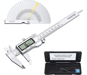 Proster Digital Vernier Caliper 6inch 150mm for Length Width Depth Inner Outer Diameter