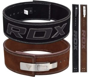 RDX Powerlifting Belt for Weight Lifting, Lever Buckle Gym Training Leather Belt 10mm Thick
