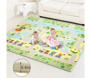 Best Baby Play Folding Foam Reversible Non Toxic Waterproof