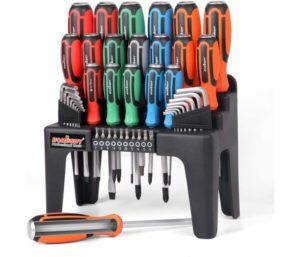 HORUSDY 44-Piece Magnetic Best Screwdriver Set with Go-Thru Steel Blades