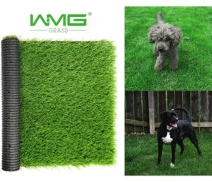 WMG GRASS Premium Artificial Grass, Drainage Mat, 3.3 x 5 Artificial Turf for Dogs, Cats, Pets, Turf Realistic Indoor Outdoor for Garden, Patio (16.5 sq ft)