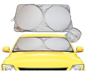 Windshield Sun Shade - 210T Fabric Highest in The Market for Maximum UV and Sun Protection
