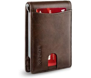 RUNBOX RFID Blocking Front Pocket Leather Wallets