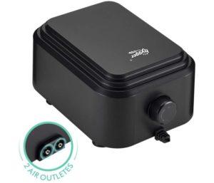 hygger Quietest Best Aquarium Air Pump, Adjustable Oxygen Pump