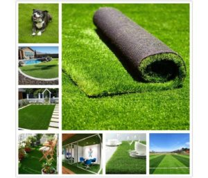 Conscience Trading Artificial Grass 8' x 10' (80 Square Feet) Realistic Fake Grass Artificial Turf Lawn Synthetic Deluxe Thick Lawn Pet Turf Garden Backyard Patio Balcony…