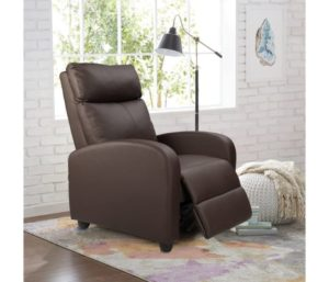 Homall Single Best Leather Recliner Chair Padded Seat PU Leather, Brown