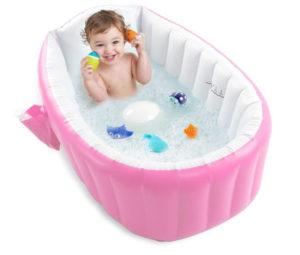 Inflatable Baby Bathtub, Portable Bath Tub for Newborn, Infant, Toddler, Non Slip Travel Bathtub, Mini Best Baby Bath Tub