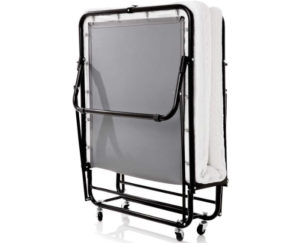 LUCID Rollaway Best Folding Bed with Memory Foam Mattress - Rolling Cot