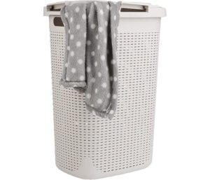Mind Reader Basket Laundry Hamper with Cutout Handles, Washing Bin, Dirty Clothes Storage