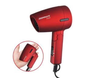 ZOOMMATE Mini Best Travel Hair Dryer 1000W Compact, Folding Handle Blow Dryer with Bag