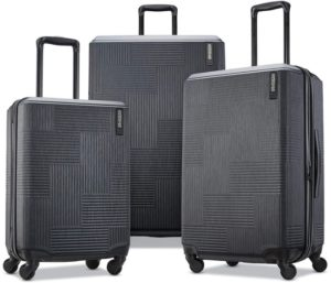American Tourister Best Luggage Sets with Spinner Wheels Expandable Hardside
