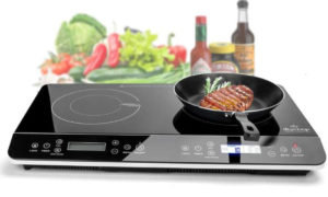 Duxtop Double Induction Cooktop 1800W Digital Best Electric Cooktops, Sensor Touch Stove
