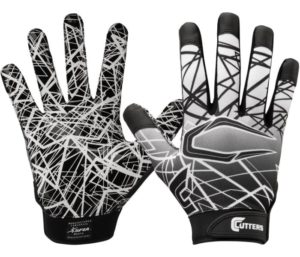 Cutters Game Day Best Football Gloves, Silicone Grip Receiver Glove