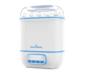 Eccomum Best Baby Bottle Sterilizer and Dryer, LED Touch Screen, 360° Steam Disinfection & Drying, Super Large Capacity, HEPA Filter