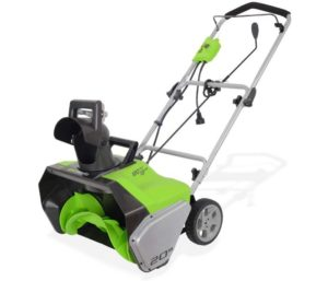 Greenworks 20-Inch, 13 Amp Corded Best Electric Snow Blower Snow Thrower