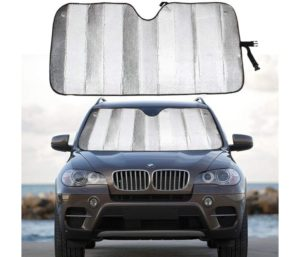 MCBUTY Best Windshield Sun Shade for Car Silver Thicken 5-Layer UV Reflector