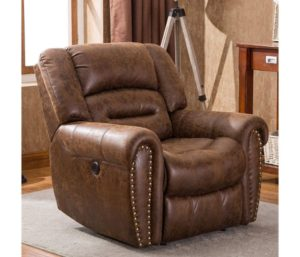 ANJ Electric Best Leather Recliner Chair, Breathable Bonded Leather, USB Port