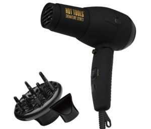 HOT TOOLS Signature Series 1875W Ionic Best Travel Hair Dryer