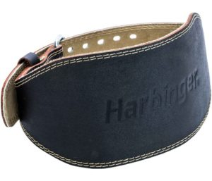 Harbinger Padded Leather Contoured Best Weightlifting Belt with Suede Lining and Steel Roller Buckle