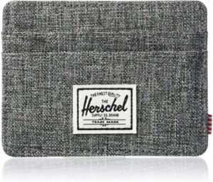 Herschel Charlie Best Front Pocket Wallet Raven Crosshatch