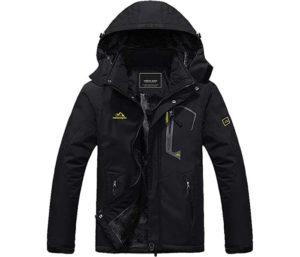 MAGCOMSEN Men's Winter Coats Waterproof Ski Snow Jacket Warm Fleece Jacket