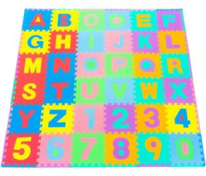 ProSource Best Kid Play Mat Puzzle Alphabet, Numbers
