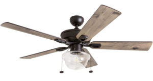 Prominence Home, Vintage Indoor Outdoor Ceiling Fan, ETL Damp Rated
