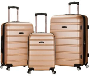 Rockland Melbourne Hardside Spinner Wheel Luggage 3-Piece Set 20-24-28-inch