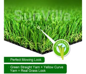 SunVilla SV7'X13' Realistic Indoor Outdoor Artificial GrassTurf 7 FT X 13 FT (91 Square FT)