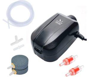 Uniclife Best Aquarium Air Pump, 2 Outlets, Adjustable Oxygen