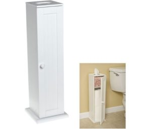 Free Standing Toilet Paper Bathroom Cabinet Holder