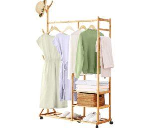 Homde Clothing Best Coat Rack Bamboo Garment