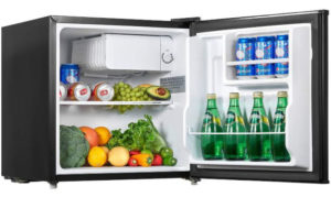 Mini Fridge with Freezer, AICOOK 1.6 Cu.Ft Compact Refrigerator with Small Freezer