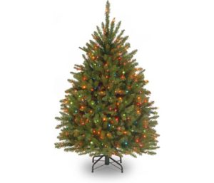 National Tree Company lit Artificial Small Christmas Tree with Lights