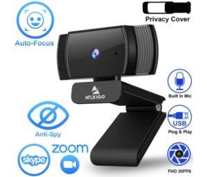 NexiGo Autofocus 1080p Best Wireless Webcam Noise Reduction