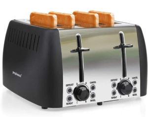 prepAmeal Best 4 Slice Toasters with 6 Browning Settings