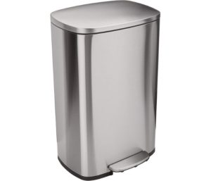 AmazonBasics Rectanglular, Stainless Steel Best Kitchen Trash Can