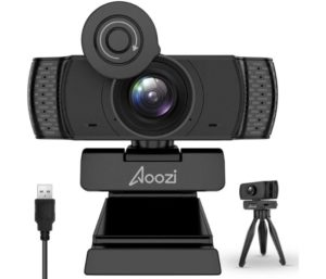 Aoozi Wireless Webcam with Microphone USB Computer