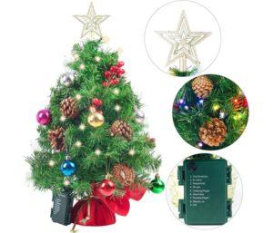 Joiedomi Prelit Tabletop Mini Christmas Tree