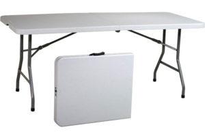 Office Star Resin Multipurpose Rectangle Best Folding Table Center Foldable